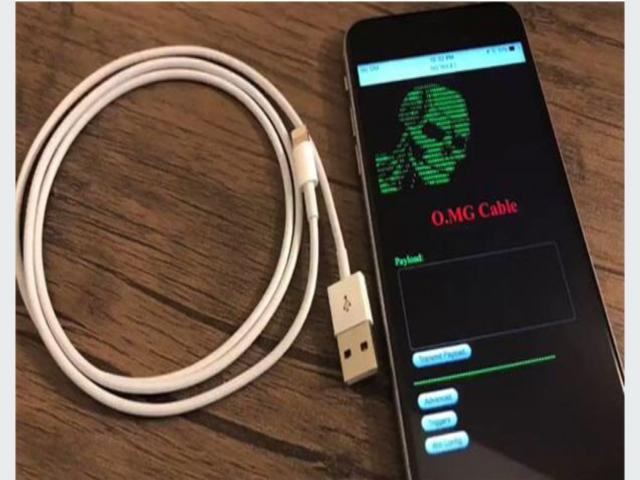 Bilgisayar hackleyen iPhone şarj kablosu