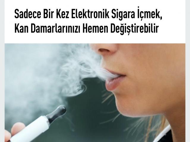Elektronik sigarada tehlike