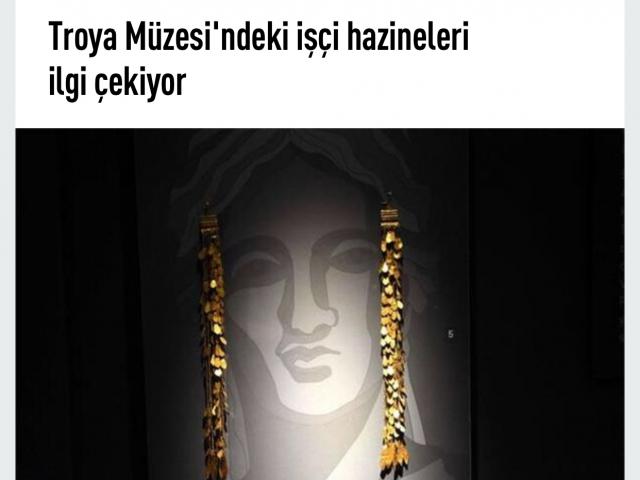 Troya müzesine yoğun ilgi