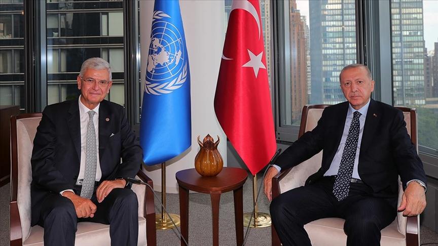 Cumhurbaşkanı Erdoğan, BM 75. Genel Kurul Başkanlığını yapan Bozkır'ı kabul etti