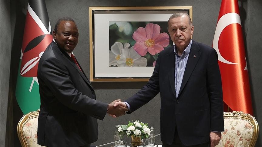 Cumhurbaşkanı Erdoğan, Kenya Cumhurbaşkanı Kenyatta ile görüştü