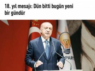 """Erdoğan, """"Bugün yeni bir gündür"""""""