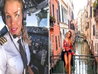 Dünyayı gezen Instagram fenomeni kadın pilot
