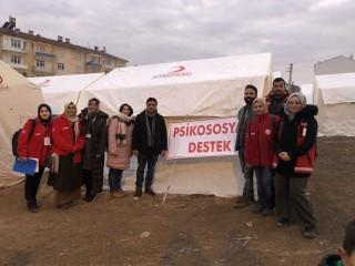 Elazığ'da Depremzedelere Psikososyal Destek