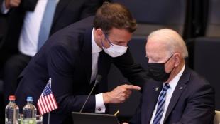 ABD Başkanı Biden ile Fransa Cumhurbaşkanı Macron telefonda görüştü