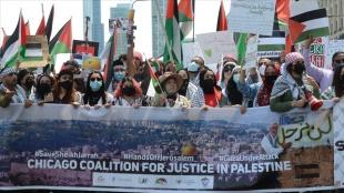 ABD'de Filistin'e destek gösterileri için sokağa çıkan Amerikalılar Biden yönetimine öfkel