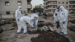 Afrin'de 35 kişinin gömüldüğü toplu mezar bulundu