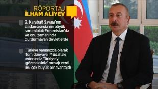 Azerbaycan Cumhurbaşkanı Aliyev 2. Karabağ Savaşı'nın 1. yılında AA'ya konuştu