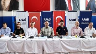Bakanlar Çavuşoğlu, Kurum ve Karaismailoğlu, yangından etkilenen mahallelerin muhtarlarıyla buluştu