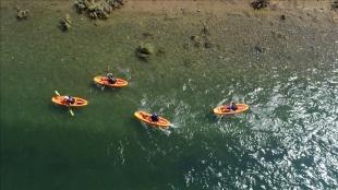 Bingöllü gençler Murat Nehri'nin sularında gelecekleri için kürek çekiyor
