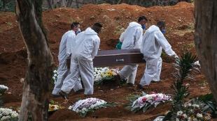 Brezilya'da son 24 saatte 1424 kişi Kovid-19'dan hayatını kaybetti