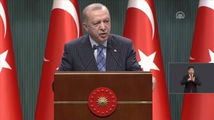 CANLI- Cumhurbaşkanı Erdoğan: Salgını yeniden büyük ölçüde kontrol altına aldık