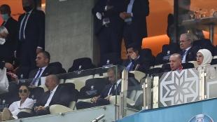 Cumhurbaşkanı Erdoğan Türkiye-Galler maçını izledi