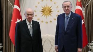 Cumhurbaşkanı Erdoğan'ın MHP Genel Başkanı Bahçeli'yi kabulü başladı