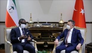 Cumhurbaşkanı Yardımcısı Oktay, Ekvator Ginesi Cumhurbaşkanı Yardımcısı Mangue ile görüştü