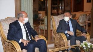 Cumhurbaşkanı Yardımcısı Oktay'dan, KKTC Cumhurbaşkanı Tatar'a taziye ziyareti