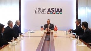 Dışişleri Bakanı Çavuşoğlu, ABD'nin Afganistan Özel Temsilcisi Halilzad ile görüştü