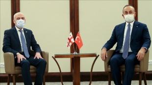 Dışişleri Bakanı Çavuşoğlu, Gürcistan Dışişleri Bakanı Zalkaliani ile görüştü