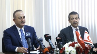 Dışişleri Bakanı Çavuşoğlu, KKTC'li mevkidaşı Ertuğruloğlu ile bir araya geldi