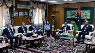 Dışişleri Bakanı Çavuşoğlu, Libya Başbakanı Dibeybe ve Başkanlık Konseyi üyeleri ile görüştü