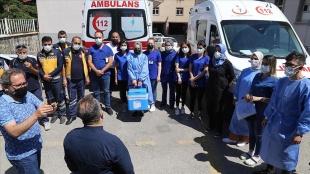 Erzurum'da sağlık ekiplerinin evlerde 'çat kapı' aşı mesaisi