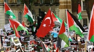 Filistin destekçileri, G7 ülkelerinden İsrail'e verdikleri desteği kesmelerini istedi
