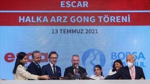 Halka arzını tamamlayan Escar, Borsa İstanbul'da 'ESCAR' koduyla işlem görmeye başlad