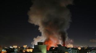 İsrail'in saldırıları nedeniyle Gazze'deki Sağlık Bakanlığı binasında hasar oluştu