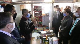 İYİ Parti Genel Başkanı Akşener Şanlıurfa'da esnafı ziyaret etti