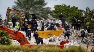 Miami'de 97 kişinin hayatını kaybettiği çöken binada arama çalışmaları sonlandırıldı