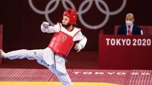 Milli tekvandocu Rukiye Yıldırım Tokyo'da bronz madalya maçını kaybetti