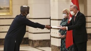 Nijerya'nın Ankara Büyükelçisi Abba, Cumhurbaşkanı Erdoğan'a güven mektubunu sundu