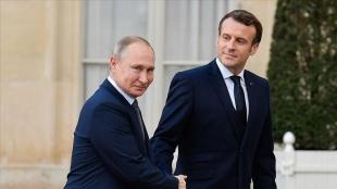 Rusya Devlet Başkanı Putin ve Fransa Cumhurbaşkanı Macron telefonda görüştü