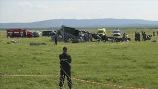 Rusya'da paraşüt sporcularını taşıyan uçağın kaza yapması sonucu 9 kişi öldü