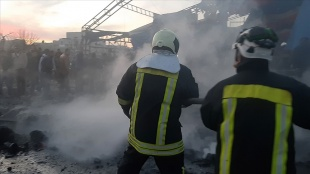 Suriye'nin kuzeyindeki Azez ilçesinde bombalı yıldırı saldırısı: 1 ölü, 6 yaralı