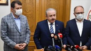 TBMM Başkanı Şentop: Mescid-i Aksa'da ibadet eden insanlara saldırı bir vahşettir