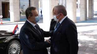TBMM Başkanı Şentop, Sırbistan Ulusal Meclis Başkanı Daçiç ile görüştü