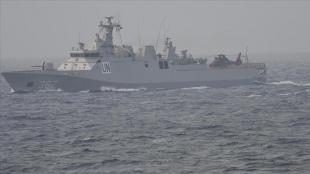 TCG Heybeliada gemisi Endonezya'nın kayıp denizaltısı için 'KRI Nanggala Dua Edin' ça