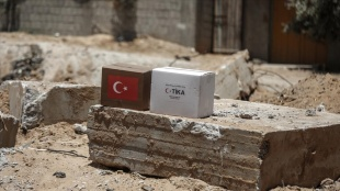 TİKA'nın Gazze Şeridi'ne yardımları sürüyor