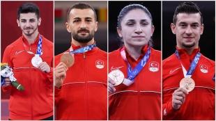 Tokyo 2020'de karatede en çok podyum sevincini Türkiye yaşadı