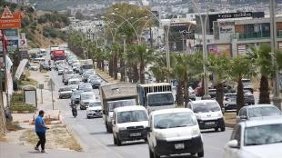 Turizm merkezi Bodrum'da 'tam kapanma' öncesi yoğunluk