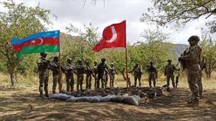 Türkiye ve Azerbaycan, işgalden kurtarılan Laçın'da ortak askeri tatbikata başladı