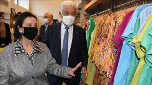 Türkiye'nin ilk kadın valisi Lale Aytaman, Muğla'da ziyaretlerde bulundu