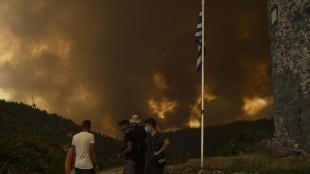 Yunanistan'ın Zakinthos Adası'nda yangın söndürme uçağı düştü